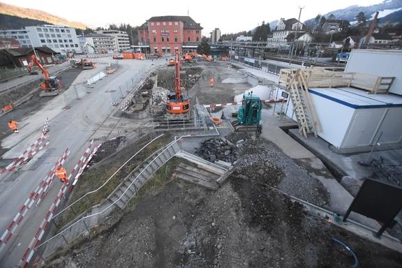 Baustelle Bahnhof Arth-Goldau